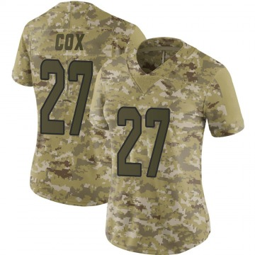 Women's Nike Miami Dolphins Chandler Cox Camo 2018 Salute to Service Jersey - Limited