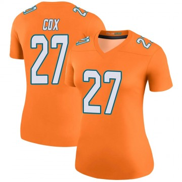Women's Nike Miami Dolphins Chandler Cox Orange Color Rush Jersey - Legend