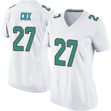 Women's Nike Miami Dolphins Chandler Cox White Jersey - Game