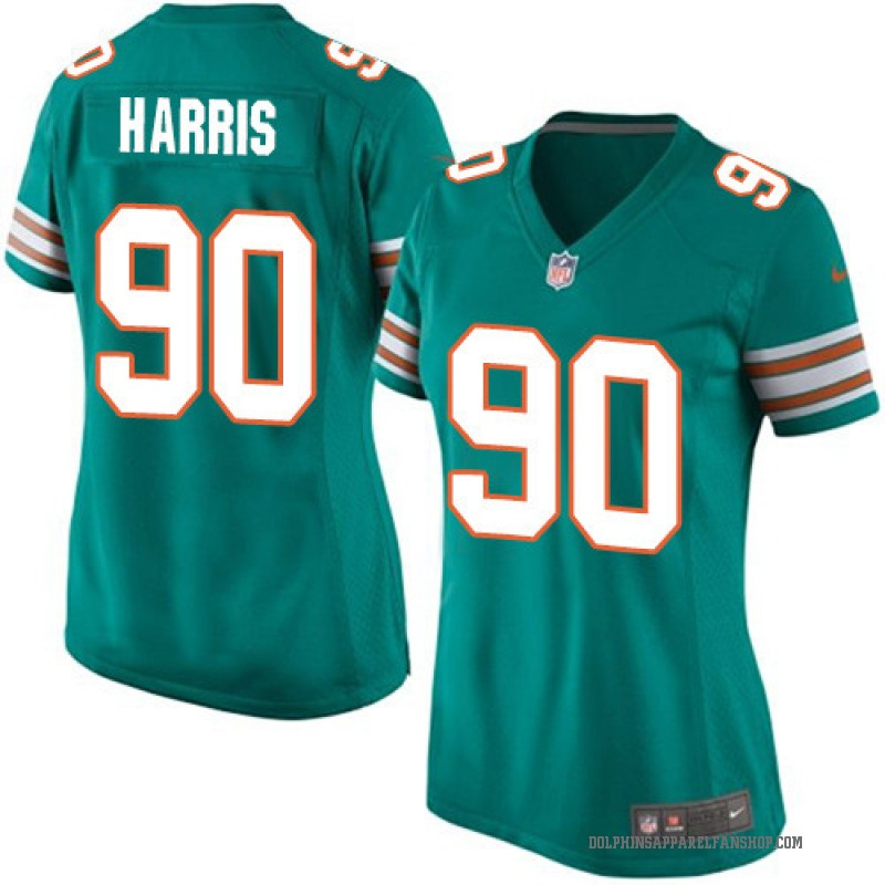 2fc33294 Women's Nike Miami Dolphins Charles Harris Green Aqua Alternate Jersey -  Game