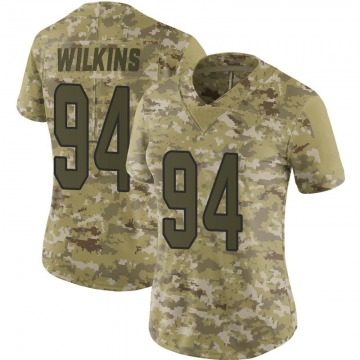 Women's Nike Miami Dolphins Christian Wilkins Camo 2018 Salute to Service Jersey - Limited