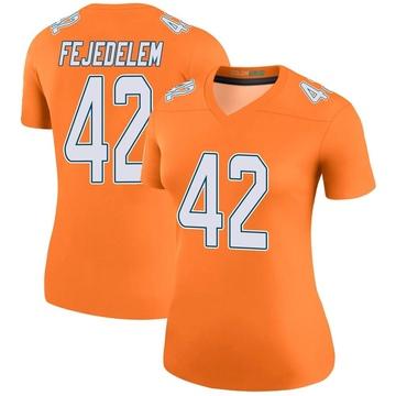 Women's Nike Miami Dolphins Clayton Fejedelem Orange Color Rush Jersey - Legend