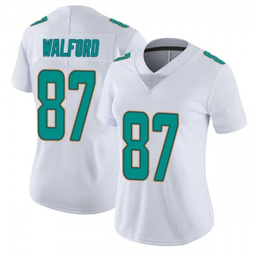 Women's Nike Miami Dolphins Clive Walford White limited Vapor Untouchable Jersey -