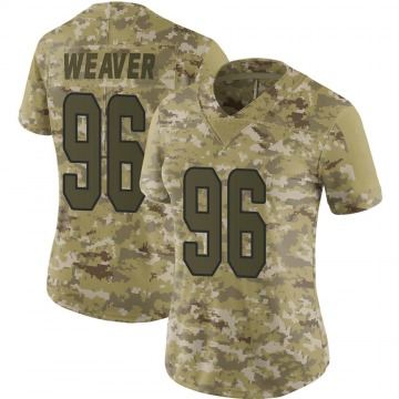 Women's Nike Miami Dolphins Curtis Weaver Camo 2018 Salute to Service Jersey - Limited