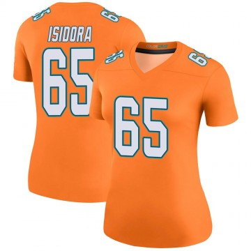 Women's Nike Miami Dolphins Danny Isidora Orange Color Rush Jersey - Legend