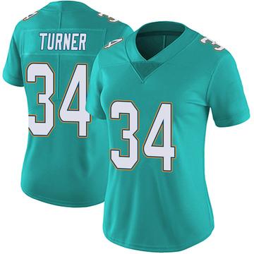 Women's Nike Miami Dolphins De'Lance Turner Aqua Team Color Vapor Untouchable Jersey - Limited