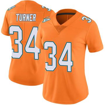Women's Nike Miami Dolphins De'Lance Turner Orange Color Rush Jersey - Limited