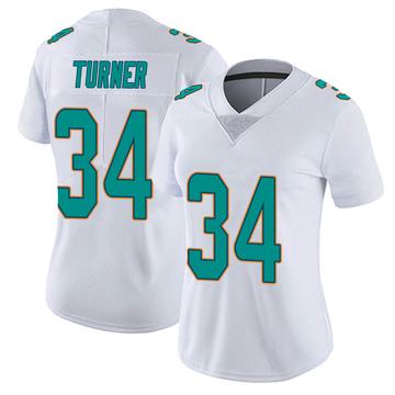 Women's Nike Miami Dolphins De'Lance Turner White limited Vapor Untouchable Jersey -