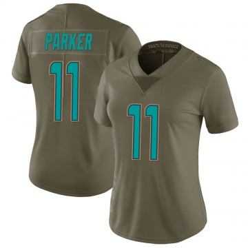 Women's Nike Miami Dolphins DeVante Parker Green 2017 Salute to Service Jersey - Limited