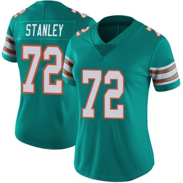 Women's Nike Miami Dolphins Donell Stanley Aqua Alternate Vapor Untouchable Jersey - Limited