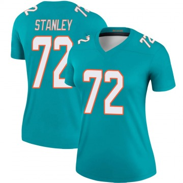 Women's Nike Miami Dolphins Donell Stanley Aqua Jersey - Legend