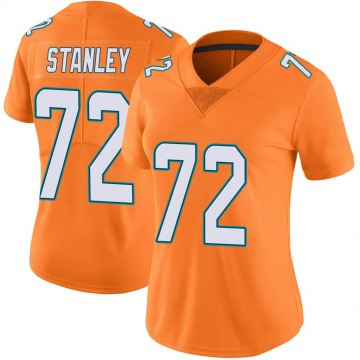 Women's Nike Miami Dolphins Donell Stanley Orange Color Rush Jersey - Limited