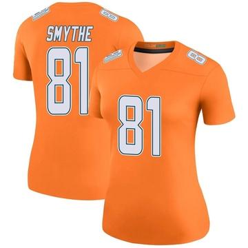 Women's Nike Miami Dolphins Durham Smythe Orange Color Rush Jersey - Legend