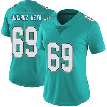 Women's Nike Miami Dolphins Durval Queiroz Neto Aqua Team Color Vapor Untouchable Jersey - Limited