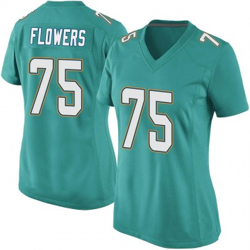 Women's Nike Miami Dolphins Ereck Flowers Aqua Team Color Jersey - Game
