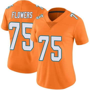 Women's Nike Miami Dolphins Ereck Flowers Orange Color Rush Jersey - Limited