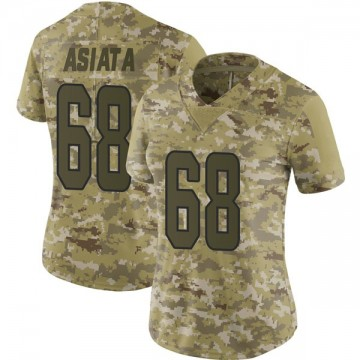 Women's Nike Miami Dolphins Isaac Asiata Camo 2018 Salute to Service Jersey - Limited
