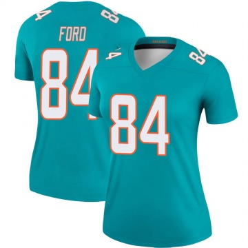 Women's Nike Miami Dolphins Isaiah Ford Aqua Jersey - Legend