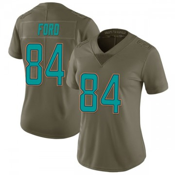 Women's Nike Miami Dolphins Isaiah Ford Green 2017 Salute to Service Jersey - Limited