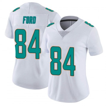 Women's Nike Miami Dolphins Isaiah Ford White limited Vapor Untouchable Jersey -