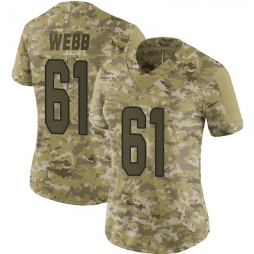 Women's Nike Miami Dolphins J'Marcus Webb Camo 2018 Salute to Service Jersey - Limited