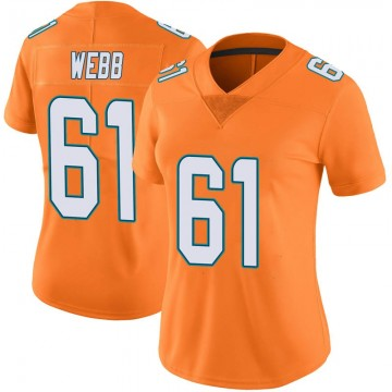 Women's Nike Miami Dolphins J'Marcus Webb Orange Color Rush Jersey - Limited