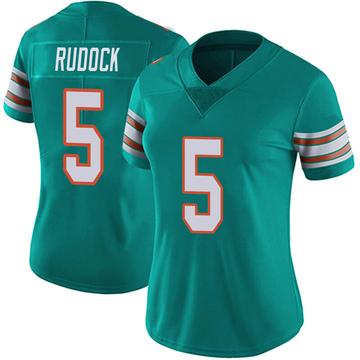 Women's Nike Miami Dolphins Jake Rudock Aqua Alternate Vapor Untouchable Jersey - Limited