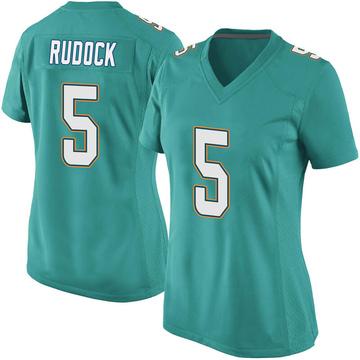Women's Nike Miami Dolphins Jake Rudock Aqua Team Color Jersey - Game