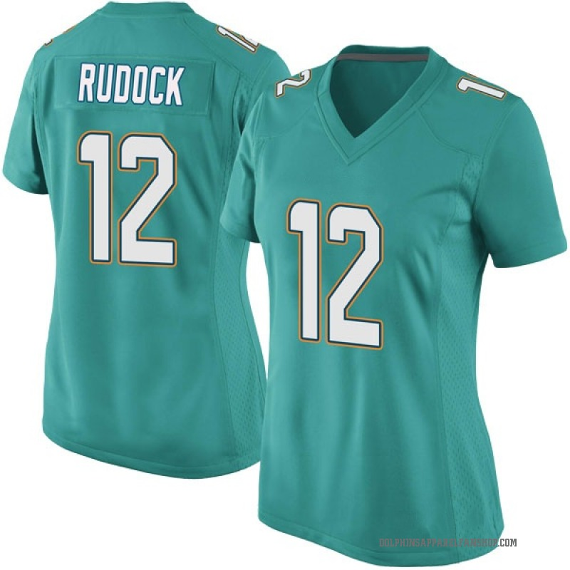 new style 1f68c 731c5 Women's Nike Miami Dolphins Jake Rudock Aqua Team Color Jersey - Game