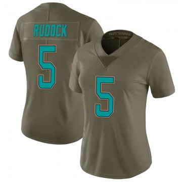 Women's Nike Miami Dolphins Jake Rudock Green 2017 Salute to Service Jersey - Limited