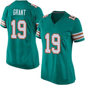 Women's Nike Miami Dolphins Jakeem Grant Aqua Alternate Jersey - Game