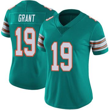 Women's Nike Miami Dolphins Jakeem Grant Aqua Alternate Vapor Untouchable Jersey - Limited