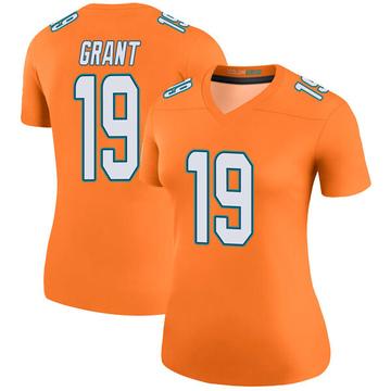 Women's Nike Miami Dolphins Jakeem Grant Orange Color Rush Jersey - Legend