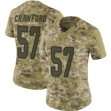Women's Nike Miami Dolphins James Crawford Camo 2018 Salute to Service Jersey - Limited