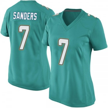 Women's Nike Miami Dolphins Jason Sanders Aqua Team Color Jersey - Game