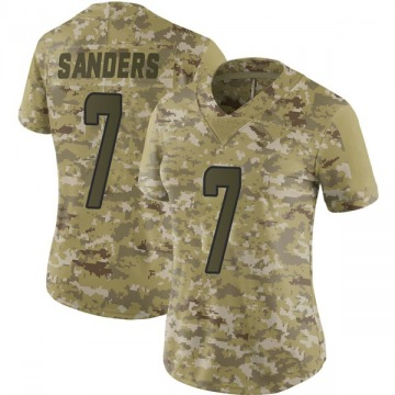 Women's Nike Miami Dolphins Jason Sanders Camo 2018 Salute to Service Jersey - Limited