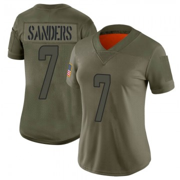 Women's Nike Miami Dolphins Jason Sanders Camo 2019 Salute to Service Jersey - Limited