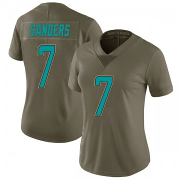 Women's Nike Miami Dolphins Jason Sanders Green 2017 Salute to Service Jersey - Limited