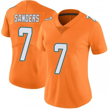 Women's Nike Miami Dolphins Jason Sanders Orange Color Rush Jersey - Limited
