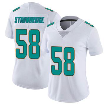 Women's Nike Miami Dolphins Jason Strowbridge White limited Vapor Untouchable Jersey -