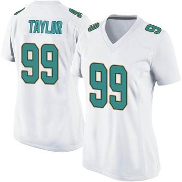 Women's Nike Miami Dolphins Jason Taylor White Jersey - Game