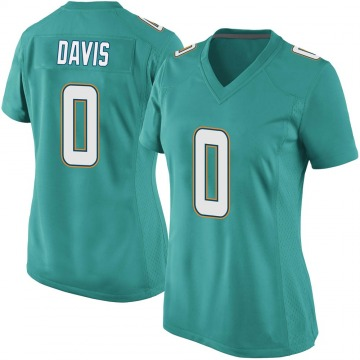Women's Nike Miami Dolphins Javaris Davis Aqua Team Color Jersey - Game