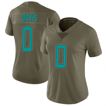 Women's Nike Miami Dolphins Javaris Davis Green 2017 Salute to Service Jersey - Limited