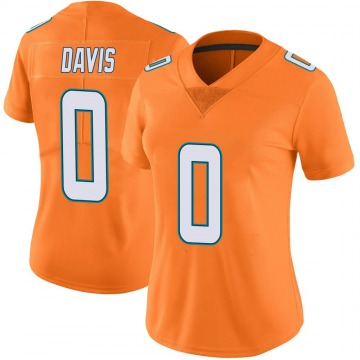 Women's Nike Miami Dolphins Javaris Davis Orange Color Rush Jersey - Limited
