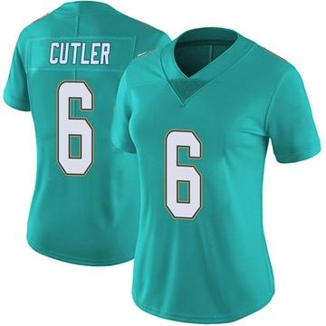 Women's Nike Miami Dolphins Jay Cutler Aqua Team Color Vapor Untouchable Jersey - Limited