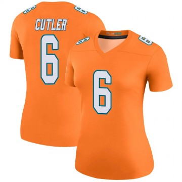 Women's Nike Miami Dolphins Jay Cutler Orange Color Rush Jersey - Legend
