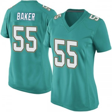 Women's Nike Miami Dolphins Jerome Baker Aqua Team Color Jersey - Game