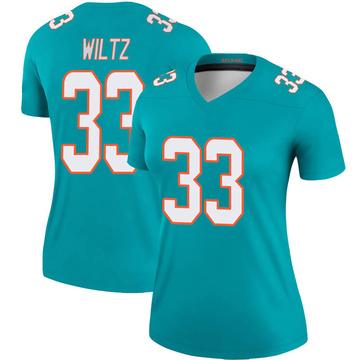 Women's Nike Miami Dolphins Jomal Wiltz Aqua Jersey - Legend