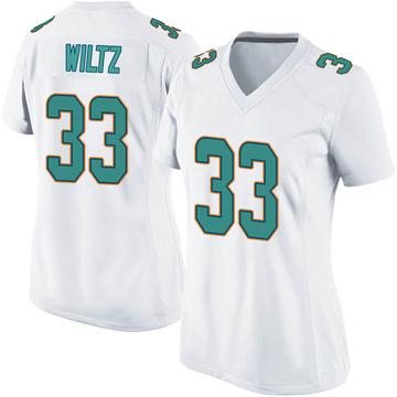 Women's Nike Miami Dolphins Jomal Wiltz White Jersey - Game
