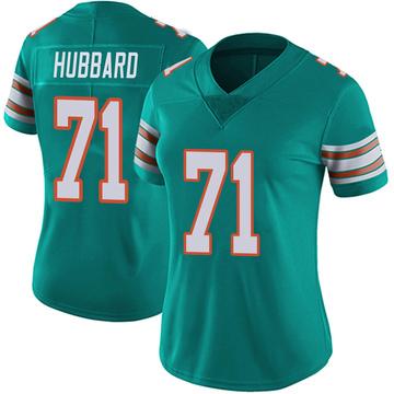 Women's Nike Miami Dolphins Jonathan Hubbard Aqua Alternate Vapor Untouchable Jersey - Limited